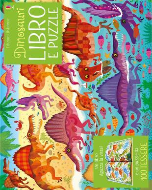 copertina Dinosauri. Libro e puzzle. Ediz. a colori. Con puzzle