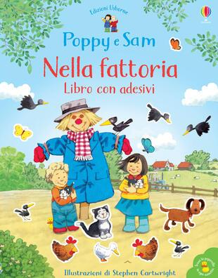 copertina Nella fattoria. Libro con adesivi. Poppy e Sam. Ediz. a colori
