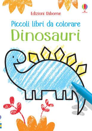 copertina Dinosauri. Piccoli libri da colorare. Ediz. a colori
