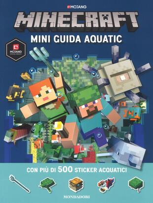 copertina Minecraft. Mini guida aquatic. Con adesivi