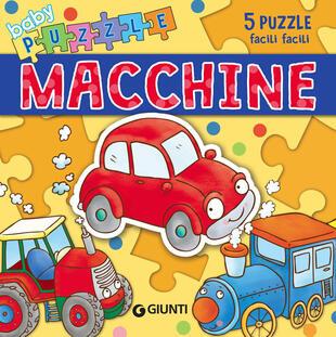 copertina Macchine. Libro puzzle. Ediz. a colori