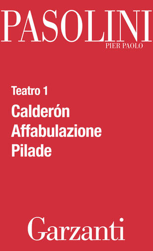 copertina Teatro 1 (Calderón - Affabulazione - Pilade)