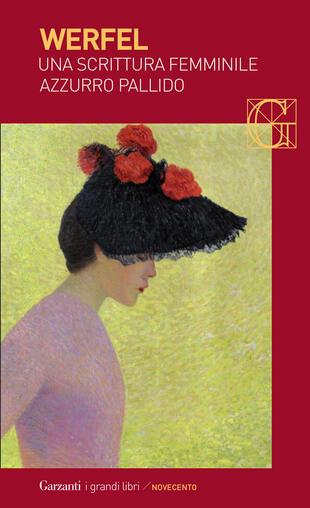 copertina Una scrittura femminile azzurro pallido