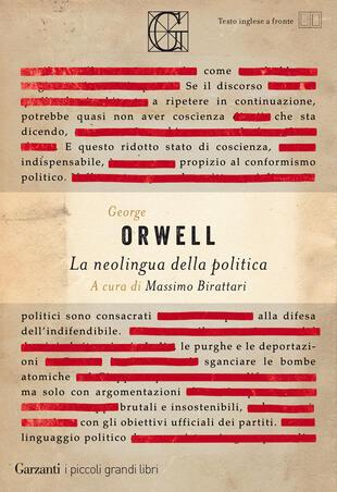 copertina La neolingua della politica