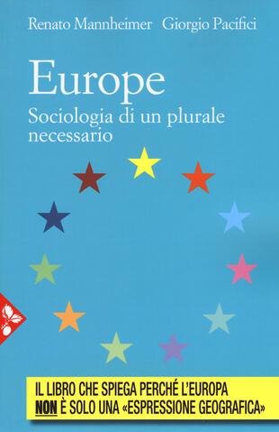 copertina Europe. Sociologia di un plurale passato