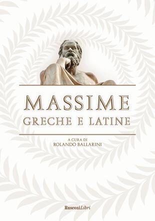 copertina Massime greche e latine