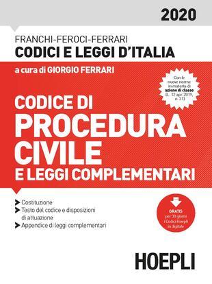copertina Codice procedura civile e leggi complementari 2020