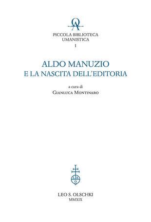 copertina Aldo Manuzio e la nascita dell'editoria