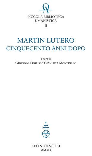 copertina Martin Lutero cinquecento anni dopo