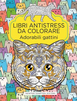 copertina Libri antistress da colorare. Adorabili gattini