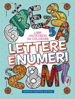 copertina Libri antistress da colorare. Lettere e numeri