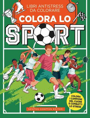 copertina Libri antistress da colorare. Colora lo sport