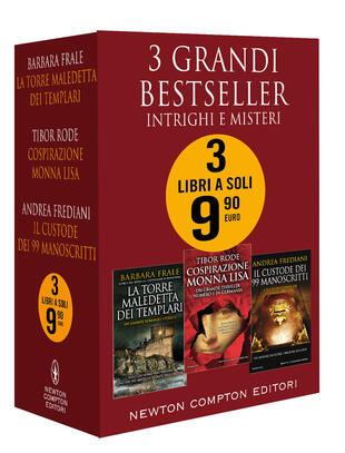 copertina 3 grandi bestseller. Intrighi e misteri (La torre maledetta dei templari - Cospirazione Monna Lisa - Il custode dei 99 manoscritti)