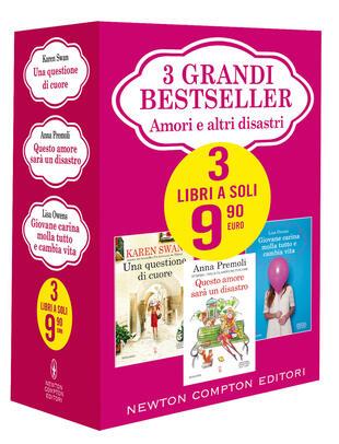 copertina 3 grandi bestseller Amori e altri disastri