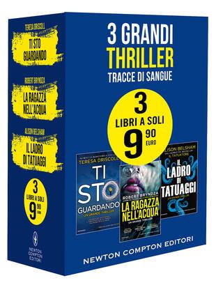 copertina 3 grandi thriller Tracce di sangue