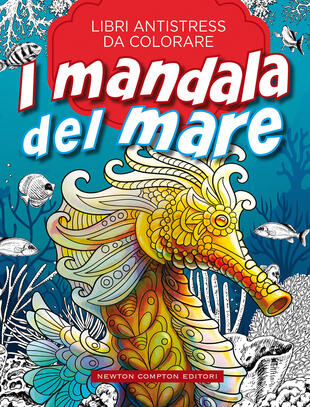 copertina Libri antistress da colorare. I mandala del mare