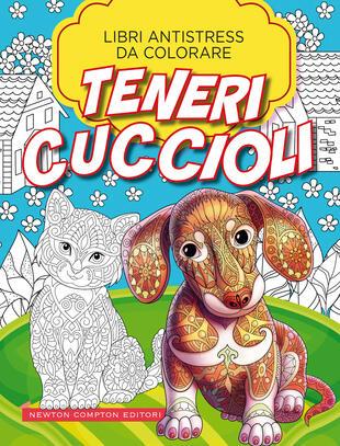 copertina Libri antistress da colorare. Teneri cuccioli
