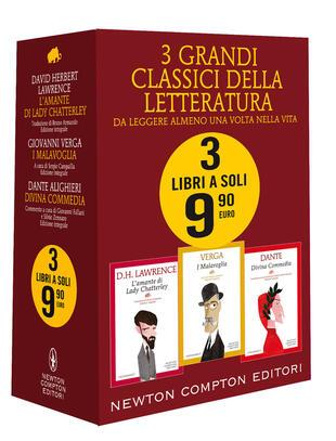 copertina 3 grandi classici (L'amante di Lady Chatterley - I Malavoglia -Divina commedia)