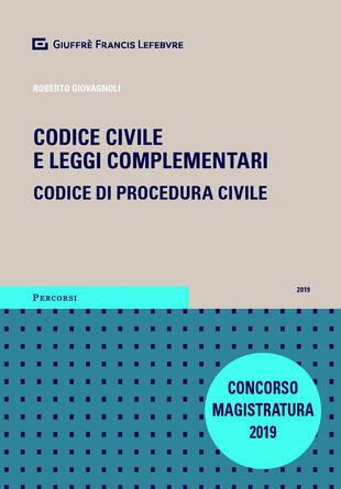 copertina Codice civile e leggi complementari. Codice di procedura civile. Concorso magistratura
