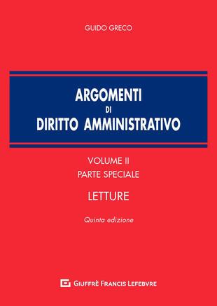 copertina Argomenti di diritto amministrativo