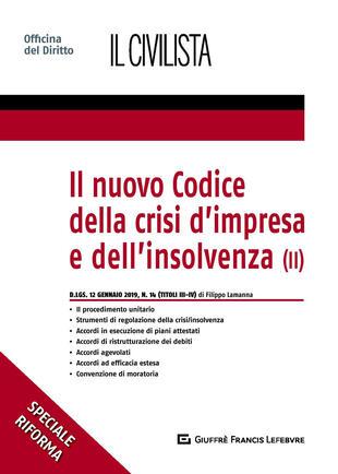 copertina Il nuovo codice della crisi d'impresa e dell'insolvenza