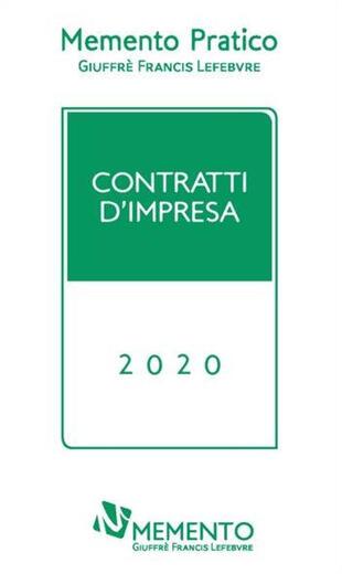 copertina Memento pratico. Contratti d'impresa 2020