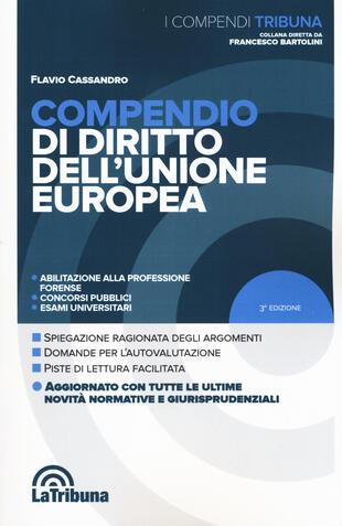 copertina Compendio di diritto dell'Unione Europea