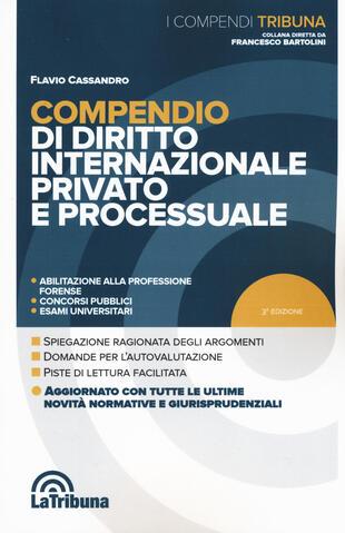 copertina Compendio di diritto internazionale privato e processuale