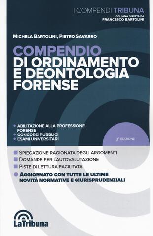 copertina Compendio di ordinamento e deontologia forense