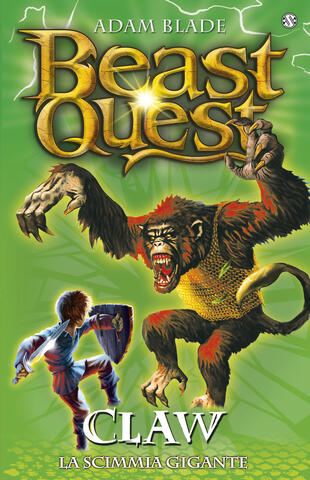 copertina Beast Quest 8 Claw. La scimmia gigante