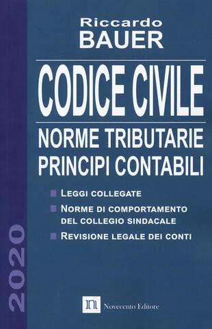 copertina Codice civile 2020. Norme tributarie, principi contabili