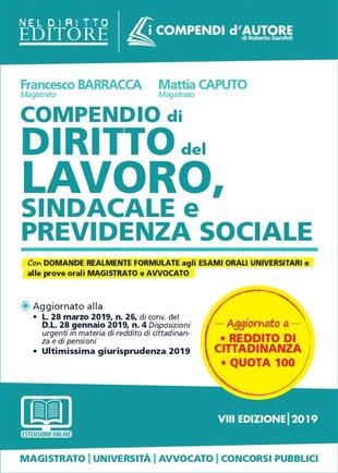 copertina Compendio di diritto del lavoro, sindacale e della previdenza sociale. Con espansione online