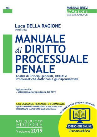 copertina Manuale di diritto processuale penale. Con espansione online