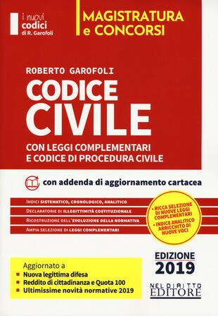 copertina Codice civile con leggi complementari e codice di procedura civile