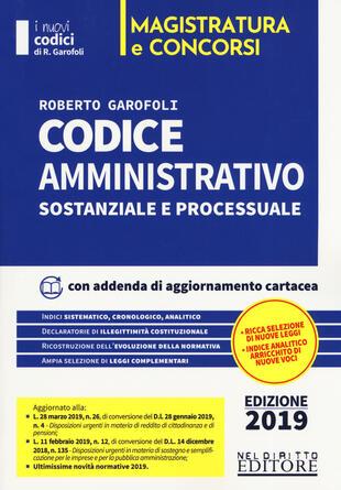 copertina Codice amministrativo sostanziale e processuale