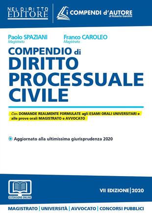 copertina Compendio di diritto processuale civile-