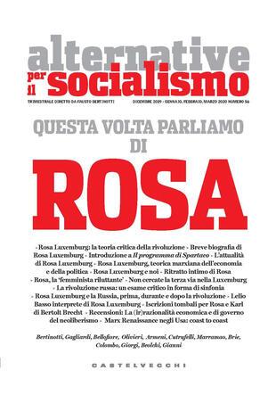 copertina Alternative per il socialismo (2019). Vol. 56: Questa volta parliamo di Rosa