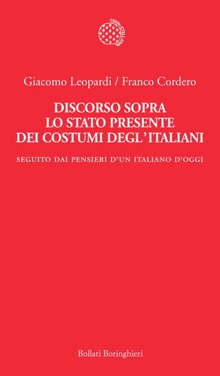 copertina Discorso sopra lo stato presente dei costumi degl'italiani