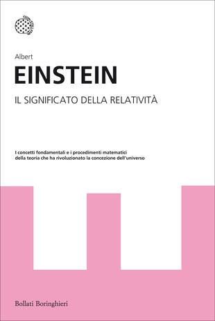 copertina Il significato della relatività