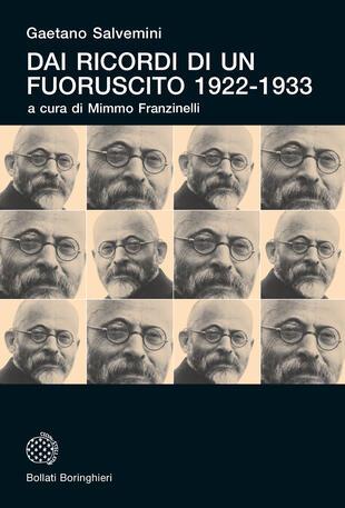copertina Dai ricordi di un fuoruscito 1922-1933