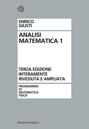 copertina Analisi matematica 1
