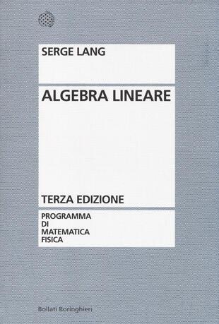 copertina Algebra lineare