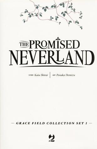 copertina The promised Neverland. Grace field collection set. Con 3 cartoline. Vol. 1