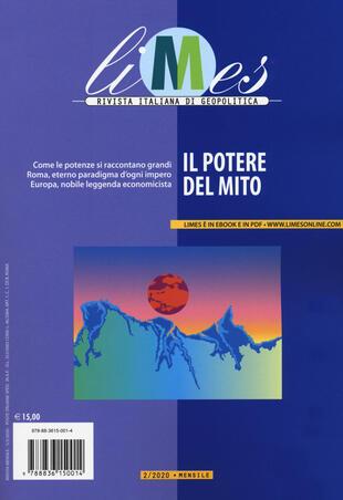 copertina Limes. Rivista italiana di geopolitica (2020). Vol. 2: Il potere del mito