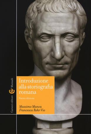 copertina Introduzione alla storiografia romana