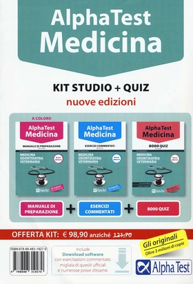 Alpha Test. Medicina. Kit studio. Con Contenuto digitale per download e accesso on line