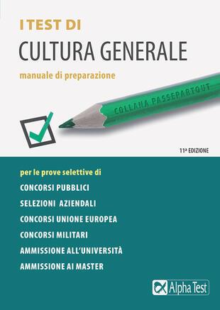copertina I test di cultura generale. Manuale