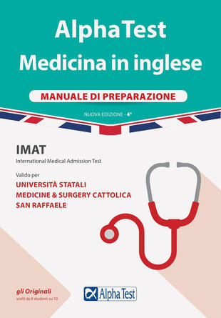 copertina Alpha Test. Medicina in inglese. IMAT international medical admission test. Manuale di preparazione