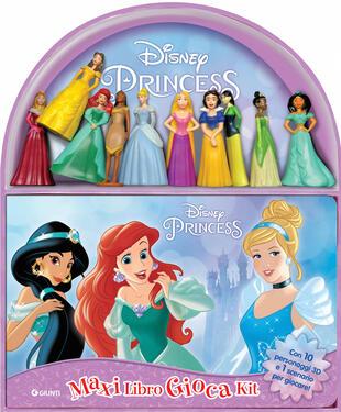 copertina Disney princess. Maxi libro gioca kit. Con 10 gadget