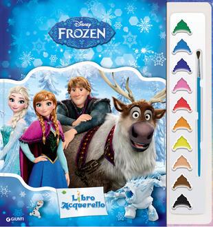 copertina Frozen. Libro acquerello. Ediz. illustrata. Con gadget
